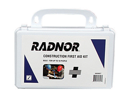 Radnor™ 10 Person Bulk Construction First Aid Kit In Plastic Case