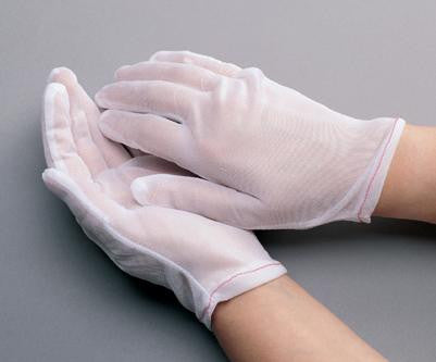 Radnor™ Small White Lint-Free 100% Nylon Cut And Sewn Two Piece Pattern Inspection Gloves With Rolled Hem Cuff