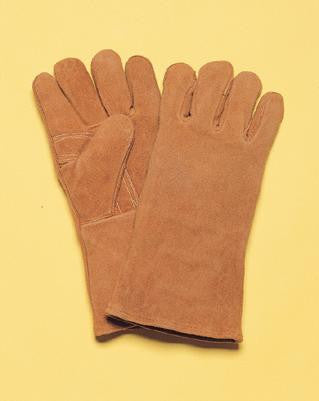 "Radnor™ Large Brown 14"" Shoulder Split Cowhide Cotton/Foam Lined Insulated Left Hand Welders Glove With Reinforced, Wing Thumb, Welted Fingers And Kevlar™ Stitching (Carded)"
