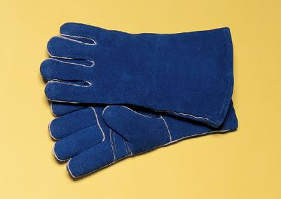 "Radnor™ Large Blue 14"" Shoulder Split Cowhide Cotton/Foam Lined Insulated Left Hand Welders Glove With Reinforced, Wing Thumb, Welted Fingers And Kevlar™ Stitching (Carded)"