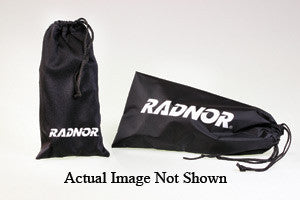 Radnor™ Black Microfiber Eyewear Pouch With Drawstring Closure