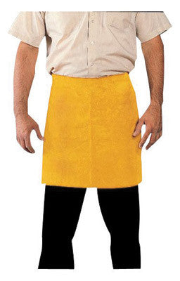 "Radnor™ 24"" X 18"" Bourbon Brown Premium Side Split Leather Waist Apron With Heavy Duty Waist Strap"