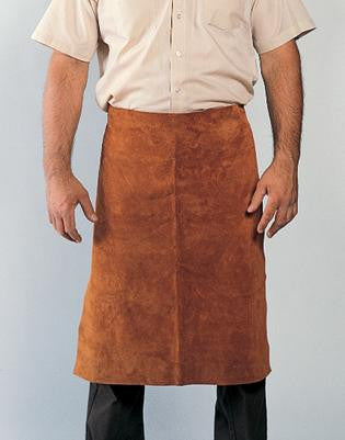 "Radnor™ 24"" X 24"" Bourbon Brown Premium Side Split Leather Waist Apron With Heavy Duty Waist Strap"