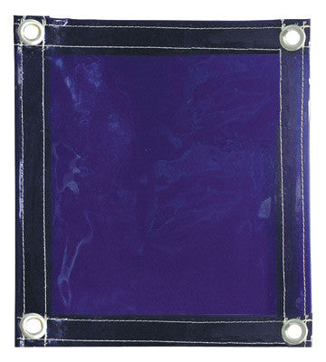 Radnor™ 6' X 8' 14 MIL Blue Transparent Vinyl Replacement Welding Screen