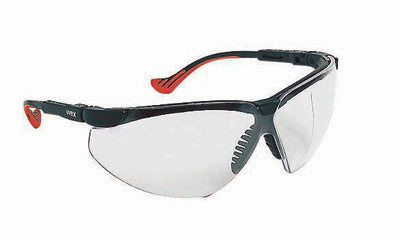 0427947bfa Uvex By Honeywell Genesis XC Safety Glasses With Black Polycarbonate Frame  And Clear Polycarbonate Uvextreme™ Anti-Fog Lens