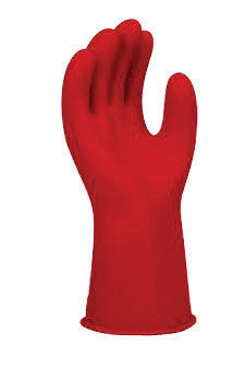 "SALISBURY By Honeywell Size 8 Red 11"" Type I Natural Rubber Class 00 Low Voltage Electrical Insulating Linesmen's Gloves With Straight Cuff"
