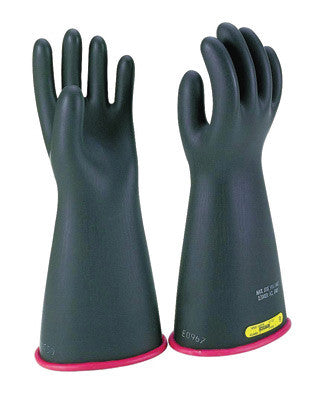 "SALISBURY By Honeywell Size 8 Black And Red 14"" Type I Natural Rubber Class 2 High Voltage Electrical Insulating Linesmen's Gloves With Straight Cuff"