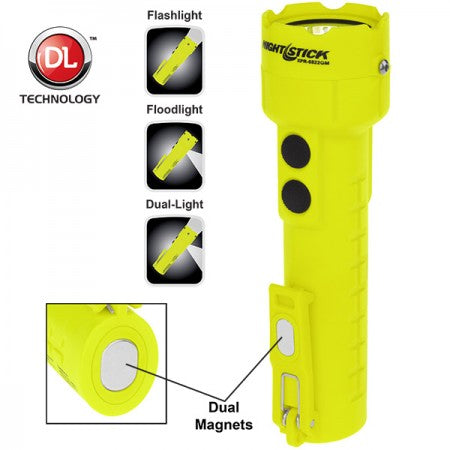 Nightstick® Intrinsically Safe Permissible Dual-Light™ Flashlight w/Dual Magnets - Rechargeable