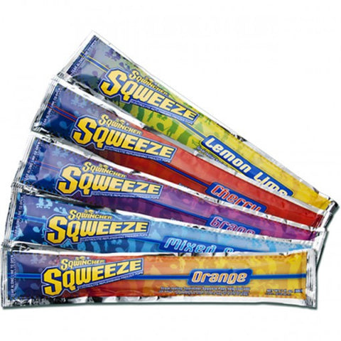 Sqwincher™ 3 Ounce Sqweeze Freezer Pops Assorted Flavors Electrolyte Freezer Pop (10 Per Bag, 15 Bags Per Box)