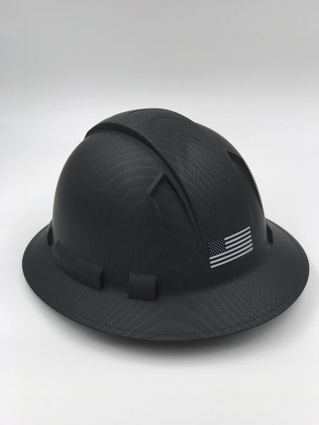 Custom Printed Black Ops Spartan Edition Pyramex Hard Hat w/ US Flag (Back) & Spartan Helmet (Front)