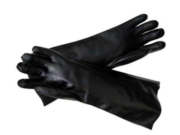Radnor™ Large Black Elbow Length Economy PVC Glove Fully Coated With Smooth Finish Palm