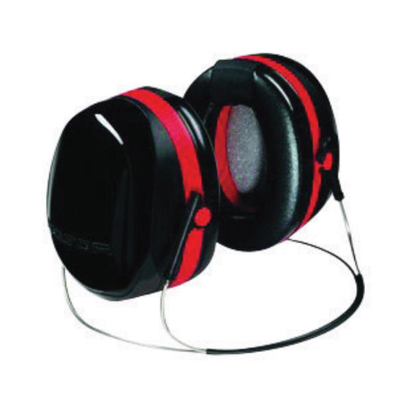 3M™ Peltor™ Optime™ 105 Black And Red ABS Behind-The-Head Hearing Conservation Earmuffs With Liquid/Foam Earmuff Cushions