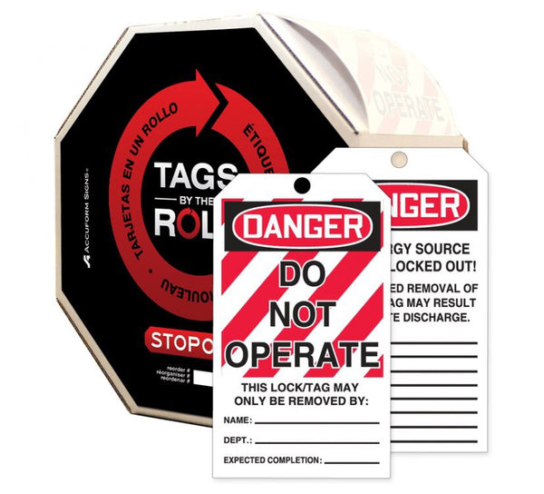 Danger Do Not Operate Tag-100/rl