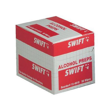 "Swift First Aid 1"" X 2 1/2"" Individually Sealed 70% Isopropyl Alcohol Antiseptic Wipes (50 Per Box)"