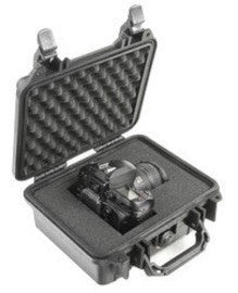 "Pelican Storm Case 1200 Black W/Foam Airtight Watertight ID 9-1/2""x 7-1/2""x4-1/2"""
