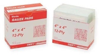 "Swift First Aid 4"" X 4"" Sterile Gauze Pad (25 Per Box)"