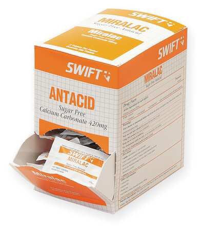 North By Honeywell™ Swift First Aid Miralac Sugar Free Antacid Indigestion Tablet (125 Packs Per Box)