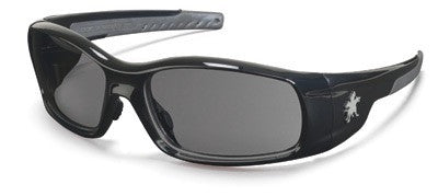 Crews™ Swagger™ Safety Glasses With Black Polycarbonate Frame And Gray Polycarbonate Duramass™ Anti-Scratch Lens