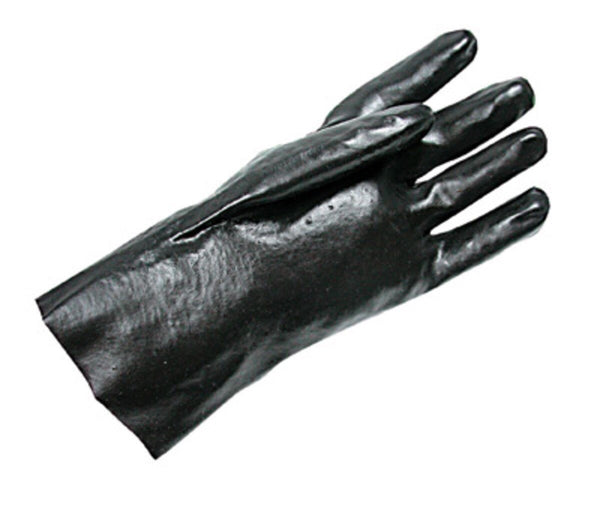 "Radnor™ Large Black 12"" Economy PVC Glove Fully Coated With Smooth Finish Palm"