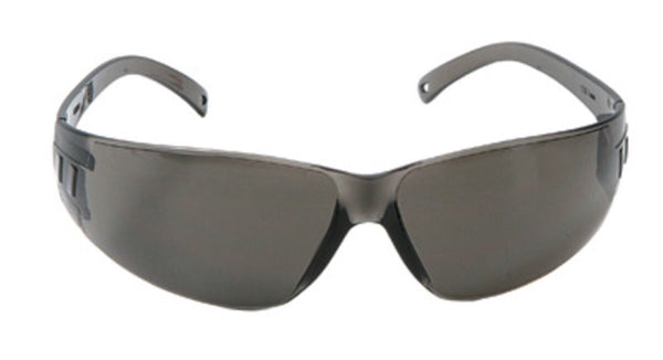 Radnor™ Classic Series Safety Glasses With Gray Frame And Gray Polycarbonate Anti-Fog Anti-Scratch Lens