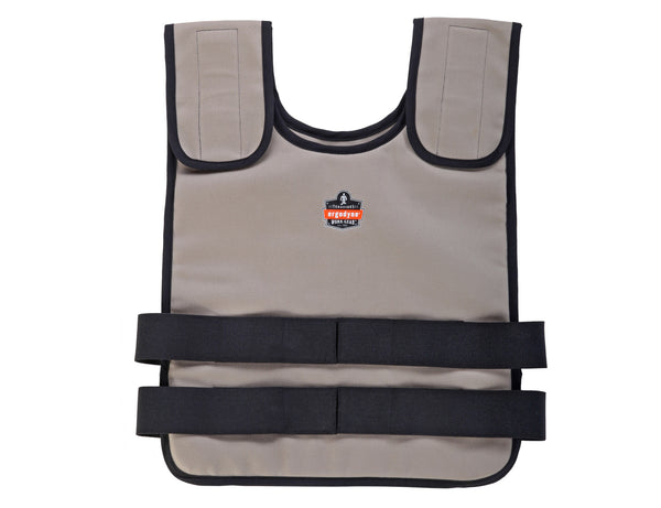 Ergodyne Vest Chill-Its Phase 6200 W/ 2 Cooling Pks LG/XL Khaki