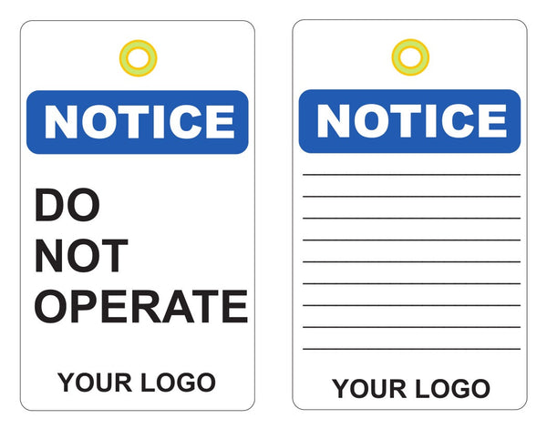 Custom Lam Vinyl Labels, Notice Do Not Operate