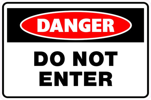 "14"" x 20"" Magnetic Sign - Danger Do Not Enter"
