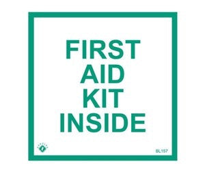 4x4 1st Aid Kit Inside Vinyl Sign