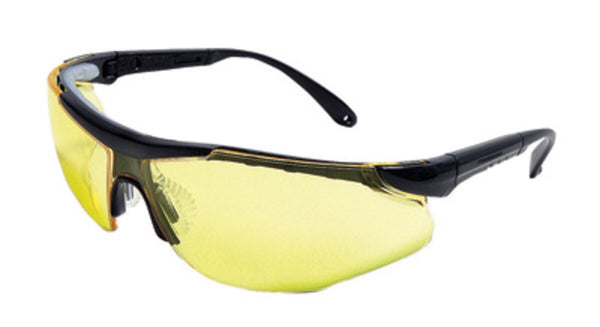 Radnor™ Elite Plus Series Safety Glasses With Black Frame And Amber Lens