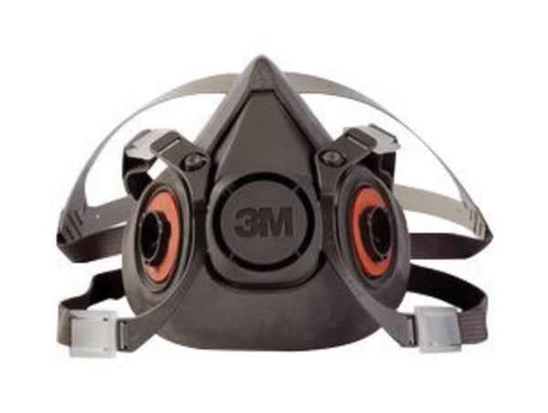 3M» Large Thermoplastic Elastomer Half Mask 6000 Series Reusable Standard Respirator With 4 Point Harness And Bayonet Connection
