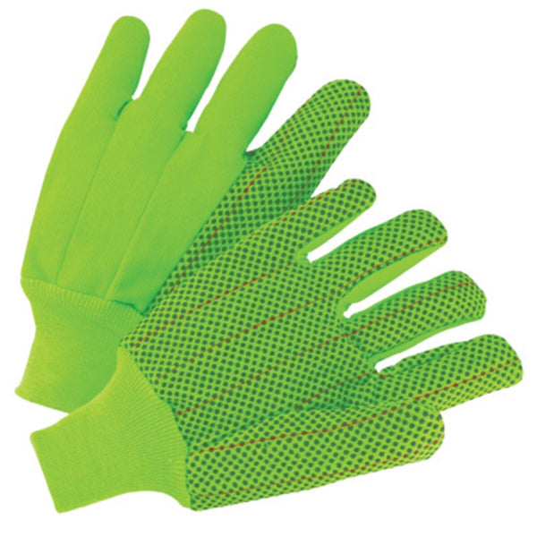 Men's Double Palm Dot Cotton Glove Green
