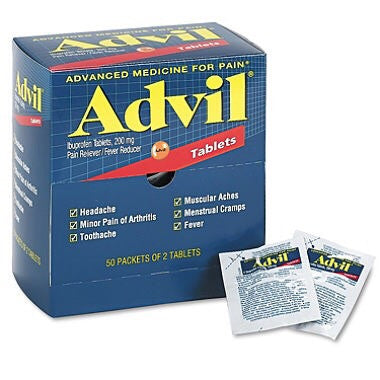 Advil Dispenser Pak -  50 x 2 tablets/bx