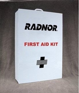 Radnor™ Four-Shelf 50 Person Durable Metal Industrial First Aid Cabinet