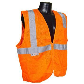 Class 2 Safety Vest Orange Mesh XL
