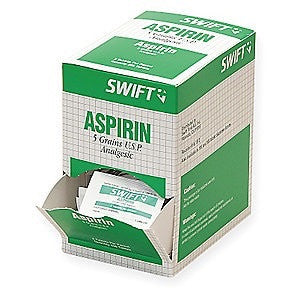 North By Honeywell™ Swift First Aid 5 Grain Aspirin Pain Reliever Tablet (125 Packs Per Box)