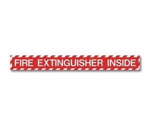 "2"" x 18"" Adhesive Vinyl-Fire Extinguisher Inside"