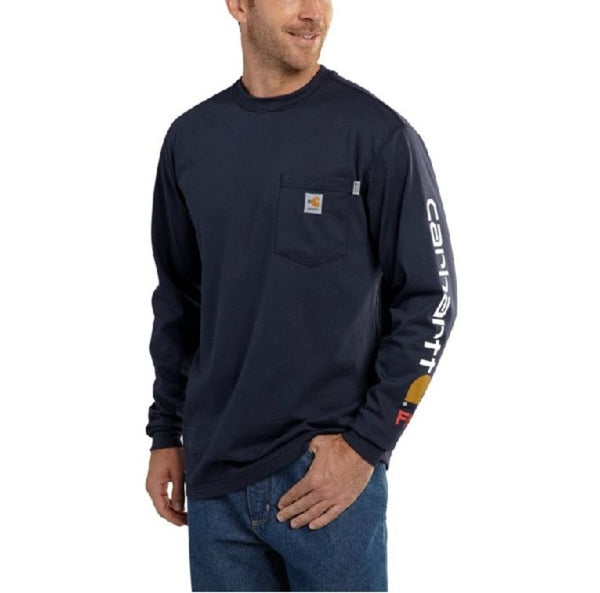 Flame-Resistant Carhartt Force® Graphic Long-Sleeve T-Shirt