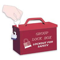 North™ by Honeywell Red Steel Group Lock Box (For Work Team Lockout Situations)