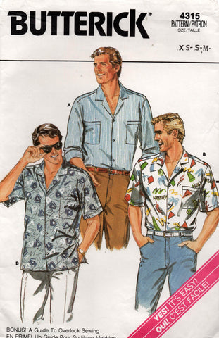 butterick 4315 mens shirt