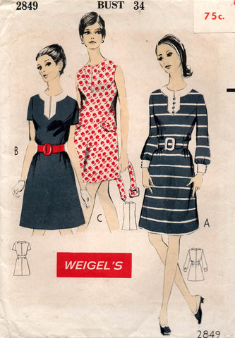 weigel's 2849 60s dress