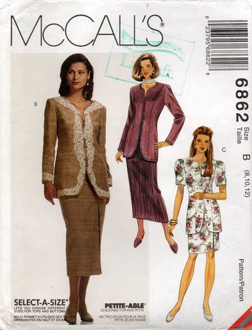 McCall's 6862 90s skirt suit
