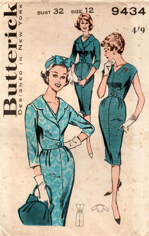 butterick 9434 60s dress and jacket