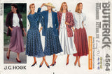 Butterick 4564 J G HOOK Womens Jacket Top Skirt & Culottes 1990s Vintage Sewing Pattern Size 18 - 22 UNCUT Factory Folded