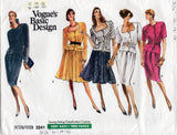 Vogue Basic Design 2241 Womens Retro Neckline Tops & Skirts 1980s Vintage Sewing Pattern Size 12 - 16