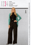 Burda Style 7439 Womens High Waisted Pleated Pants Out Of Print Sewing Pattern Sizes 8 - 20 UNCUT Factory Folded
