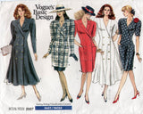 Vogue Basic Design 2007 Womens Double Breasted Coatdress Tunic & Skirt 1980s Vintage Sewing Pattern Size 8 - 12 UNCUT Factory Folded