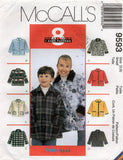 McCall's 9593 UNISEX Kids Jackets 1990s Vintage Sewing Pattern Size 3 - 4 & 5 - 6 UNCUT Factory Folded