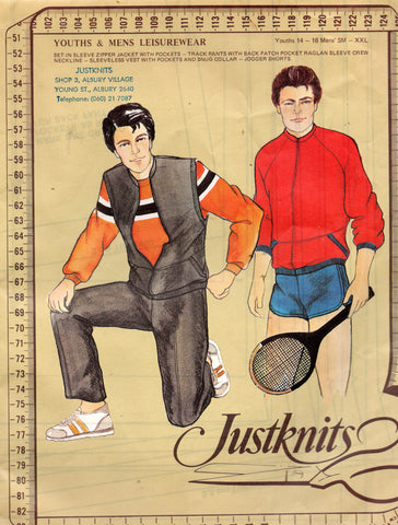 justknits mens liesurewear