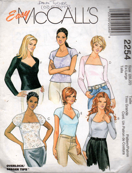 McCall's 2254 90s stretch tops