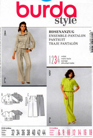 burda 7492 pants suit